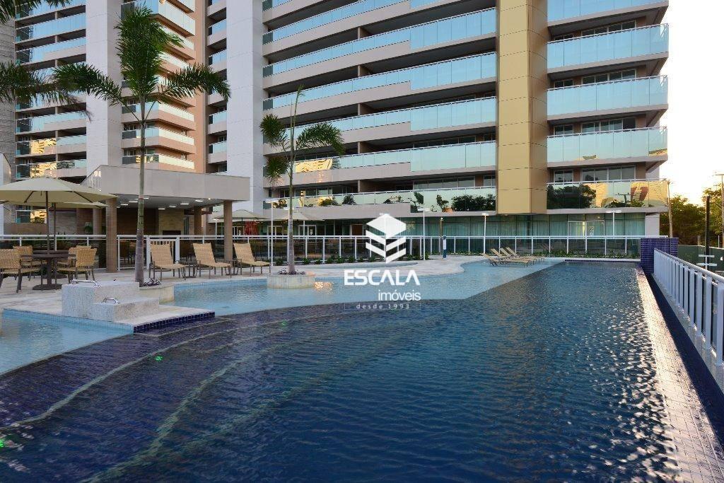 Apartamento com 4 quartos à venda, 245 m² , novo, área de lazer, gabinete, 4 vagas - Guararapes - Fortaleza/CE