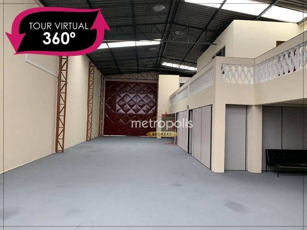 Galpão para alugar, 390 m² por R$ 6.200,00/mês - São José - São Caetano do Sul/SP