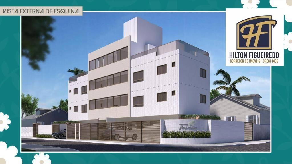 Apartamento com 2 dormitórios à venda, 40 m² + Área Externa 45,30 m² por R$ 218.000 - Bessa - João Pessoa/PB