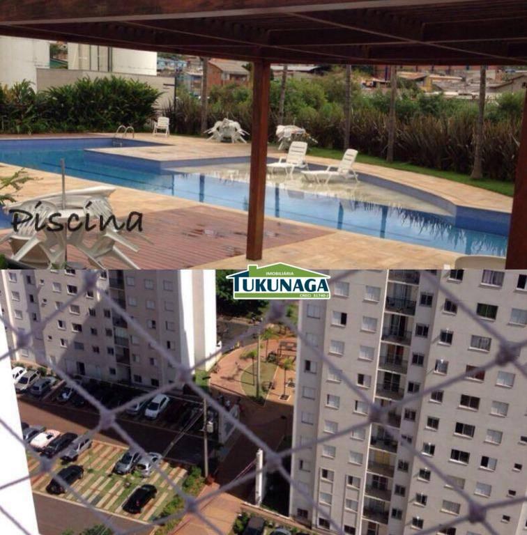 Apartamento com 2 dormitórios para alugar, 47 m² por R$ 1.080/mês - Cocaia - Guarulhos/SP