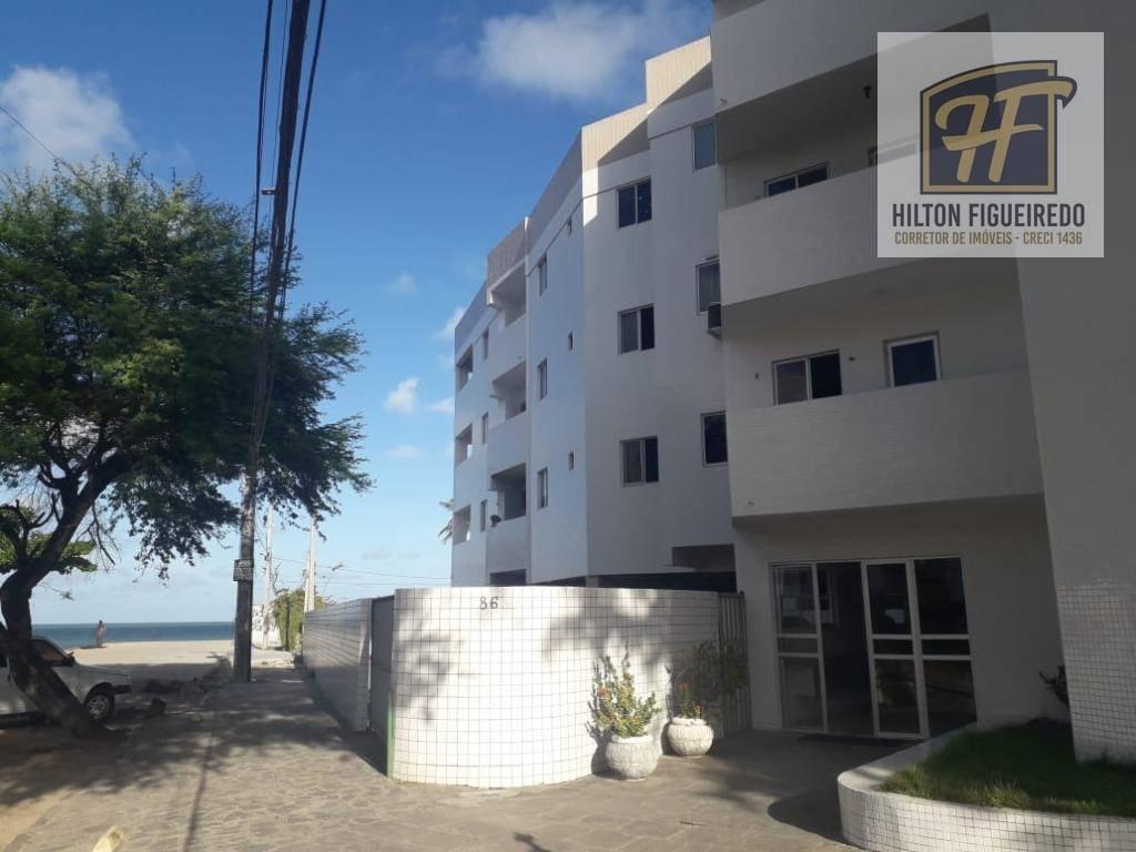 alugo apto de esquina ao mar do bessa com 45 m², 1 quarto, sendo suite, com varanda com vista pro mar, coz, sla, port 24h. R$ 900 R$ c cond