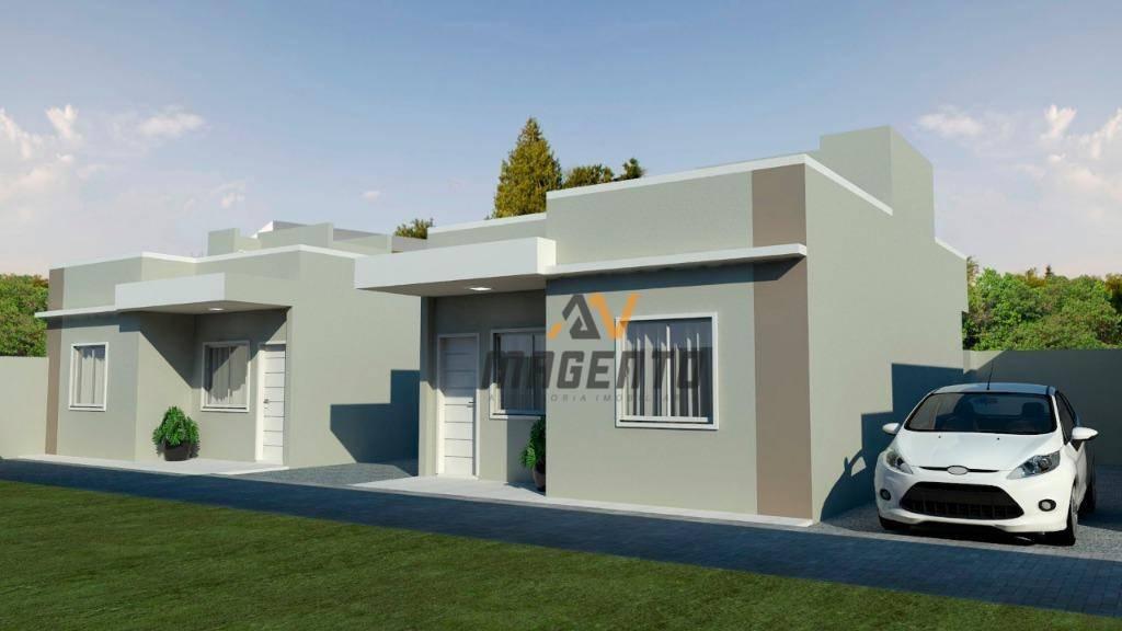 Casa com 2 dormitórios à venda, 52 m² por R$ 152.000 - Santa Cruz - Cascavel/PR