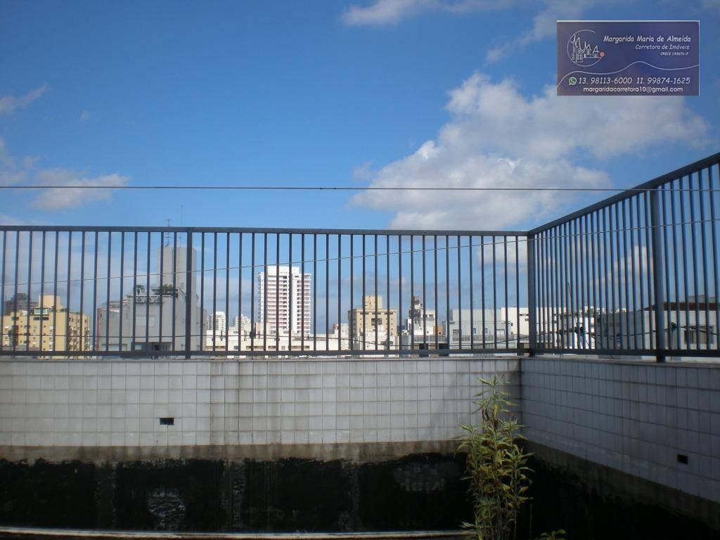 cobertura duplex preço abaixo mercado, 177 m2 area util, vista ao mar, piscina, na praia de Aparecida em Santos