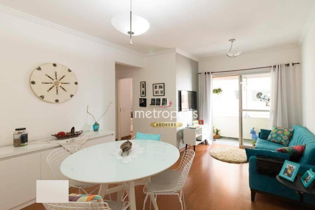 Apartamento com 2 dormitórios para alugar, 65 m² por R$ 1.600,00/mês - Assunção - São Bernardo do Campo/SP