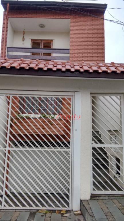 Sobrado com 3 dormitórios à venda, 262 m² por R$ 680.000 - Vila Camilópolis - Santo André/SP