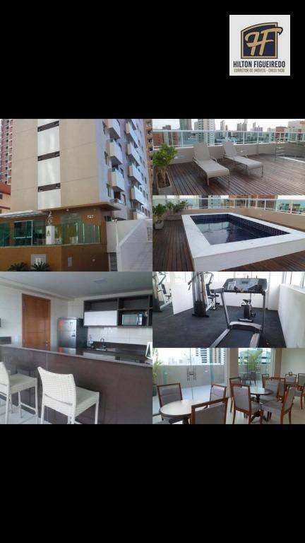 Flat com 2 dormitórios para alugar, 57 m² por R$ 1.650/mês - Tambaú - João Pessoa/PB