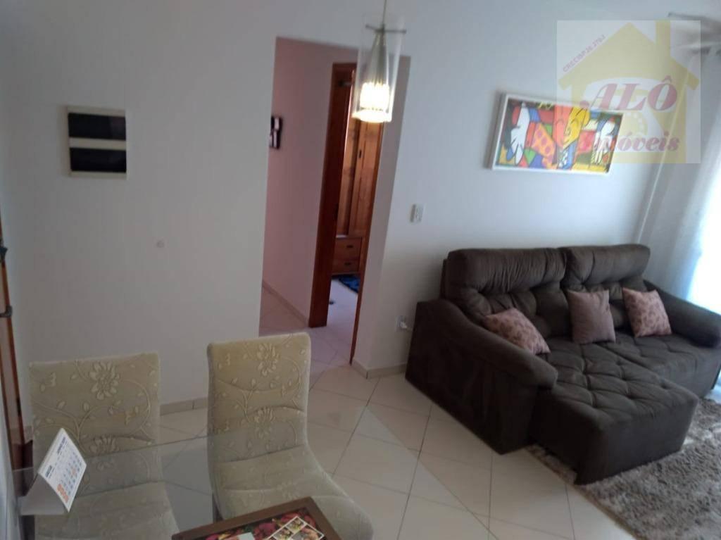 Apartamento com 2 dormitórios à venda, 60 m² por R$ 285.000,00 - Vila Guilhermina - Praia Grande/SP
