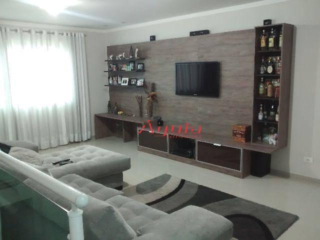 Sobrado residencial à venda, Vila Bastos, Santo André.