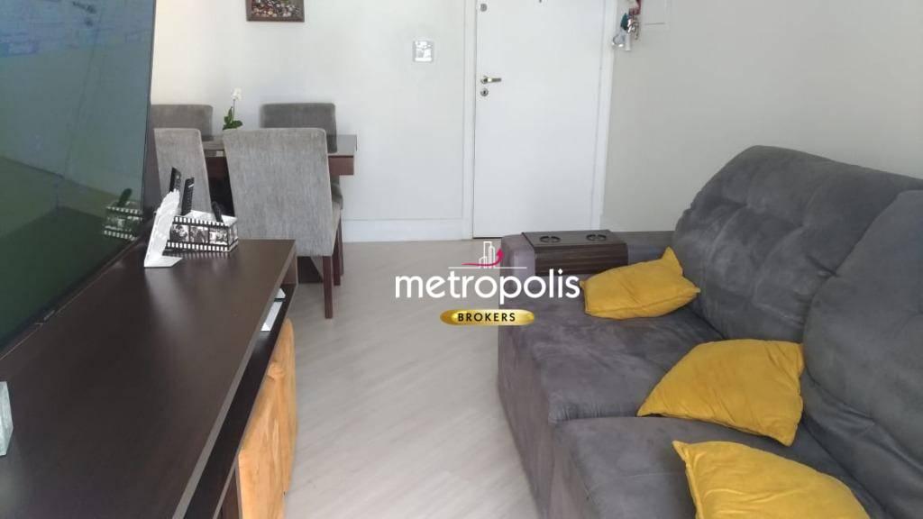 Apartamento com 2 dormitórios à venda, 56 m² por R$ 307.000 - Vila Valparaíso - Santo André/SP