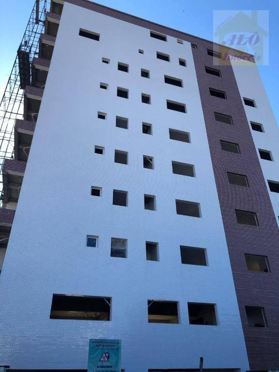 Apartamento com 1 dormitório à venda, 42 m² por R$ 190.000,00 - Canto do Forte - Praia Grande/SP