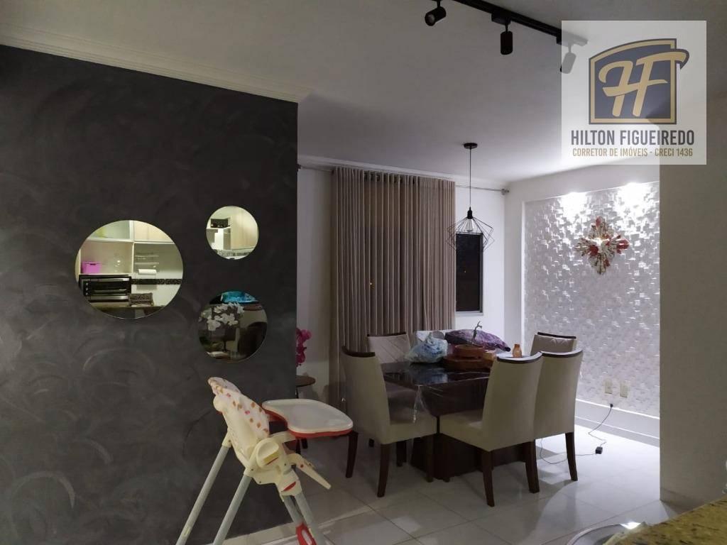 alugo apto no Bessa c 3 qtos, sendo 1 suite, sla, wc, coz, pisc, 1 vaga, 80 m² por R$ 1.100 c cond- Aeroclube - João Pessoa/PB