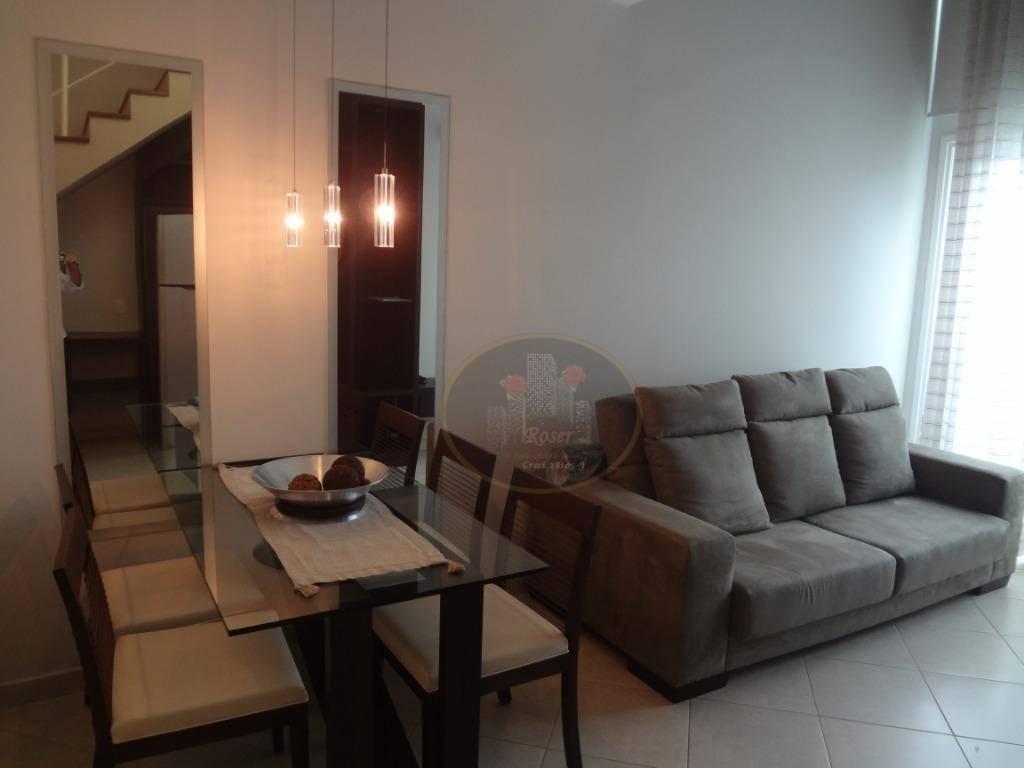 Loft com 2 dormitórios para alugar, 68 m² por R$ 4.000,00/mês - Gonzaga - Santos/SP