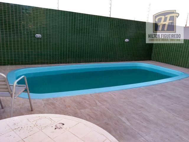 ALugo apto TERREO no Bessa c/ area privativa, 51 m², 2 quartos, coz, wc, 1vga, varanda, pisc, predio NOVO R$ 1000 c cond