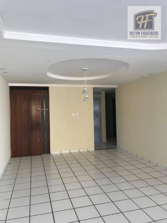 Apartamento com 3 dormitórios para alugar, 162 m² por R$ 2.500/mês - Jardim Oceania - João Pessoa/PB