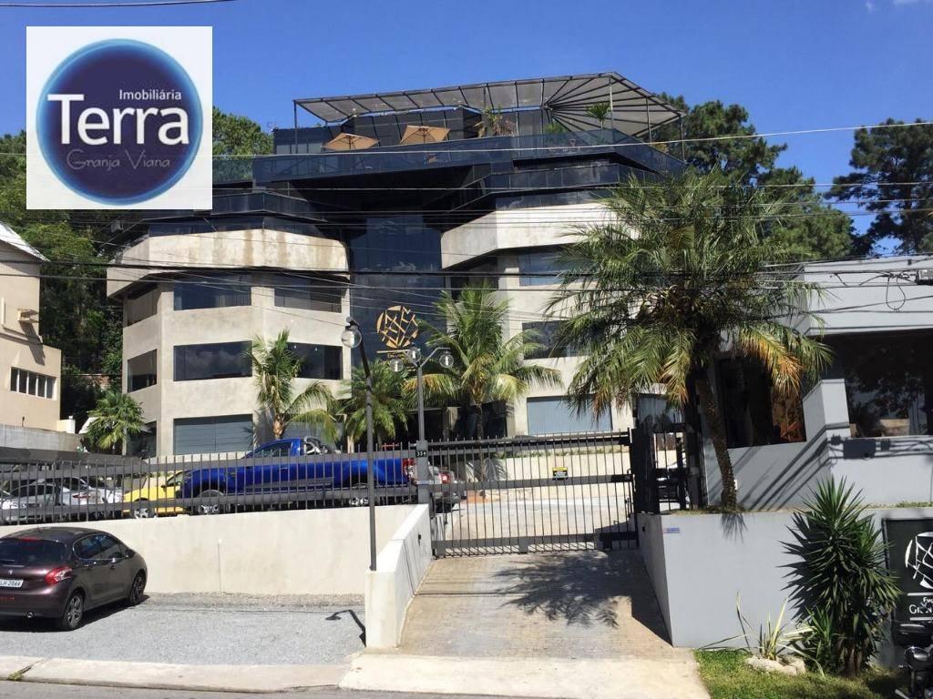 Sala comercial em localização privilegiada e vista única à venda, 311 m² por R$ 2.488.000 - Granja Tower - Granja Viana.