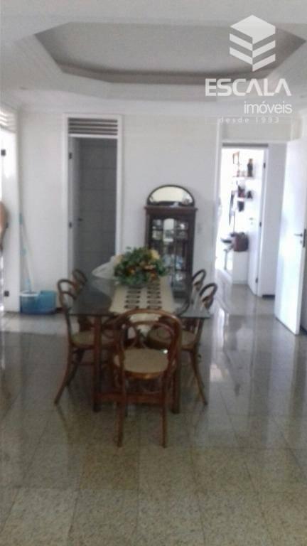 Apartamento com 3 quartos à venda, 169 m², lavabo, 2 vagas - Guararapes - Fortaleza/CE