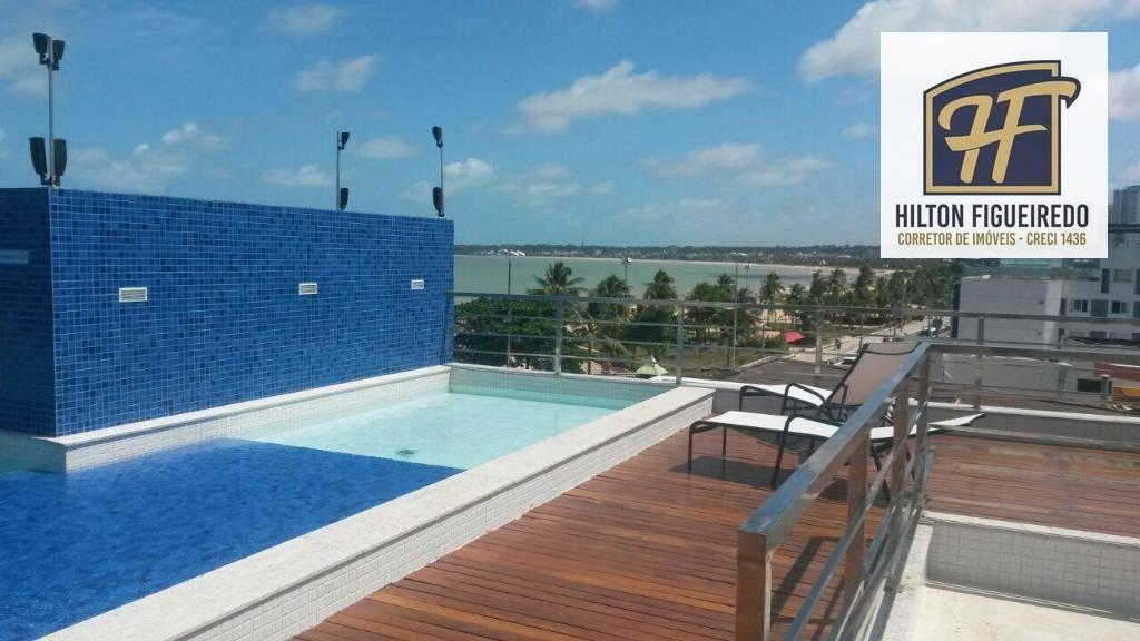 Flat com 1 dormitório para alugar, 50 m² por R$ 2.000,00/mês - Tambaú - João Pessoa/PB