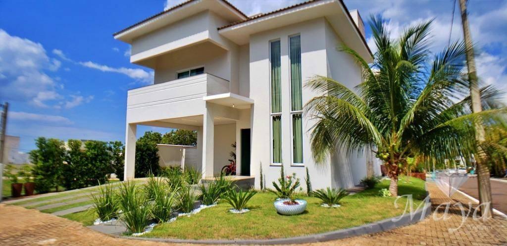 Sobrado 4 Quartos + Home, 265 m² c/ lazer no Condomínio Mirante do Lago