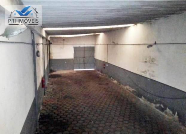 Galpão à venda, 400 m² por R$ 1.275.000 - Macuco - Santos/SP