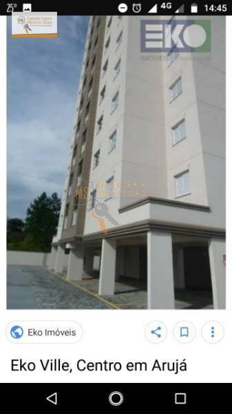 Apartamento com 2 dormitórios para venda locação, 72 m² - Perobal - Arujá/SP