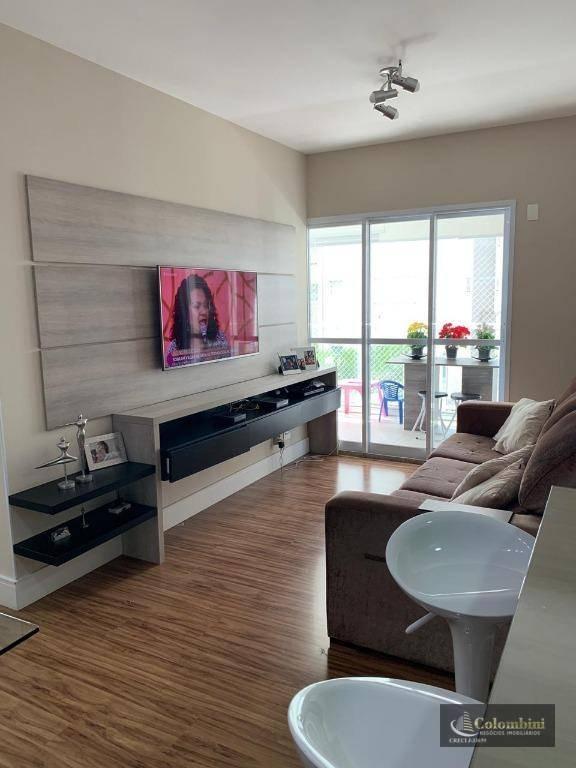 Apartamento com 3 dormitórios para alugar, 82 m² - Santo Antônio - São Caetano do Sul/SP