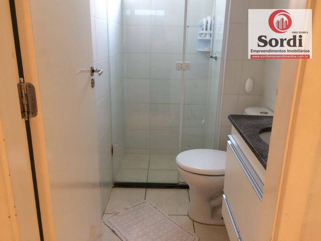 Apartamento com 2 dormitórios à venda, 46 m² por R$ 159.000 - Ipiranga - Ribeirão Preto/SP