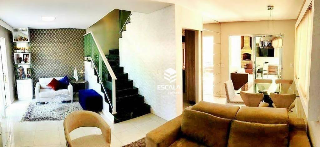Casa duplex com 3 quartos à venda, 113 m² , área de lazer, 3 vagas ? Luciano Cavalcante - Fortaleza/CE