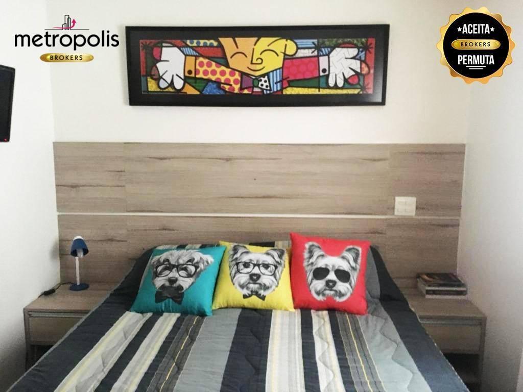 Apartamento com 2 dormitórios à venda, 76 m² por R$ 480.000 - Campestre - Santo André/SP