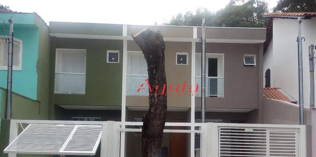 Sobrado residencial à venda, Parque Jaçatuba, Santo André - SO0209.