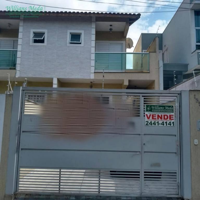 Sobrado com 3 dormitórios à venda, 145 m² por R$ 550.000 - Jardim Santa Clara - Guarulhos/SP