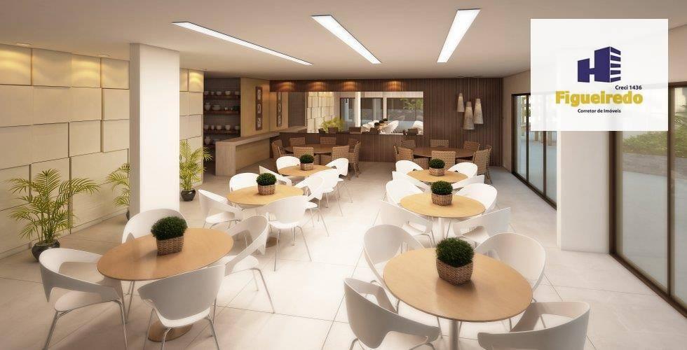 Apartamento com 4 dormitórios à venda, 155 m² por R$ 726.300 - Bessa - João Pessoa/PB