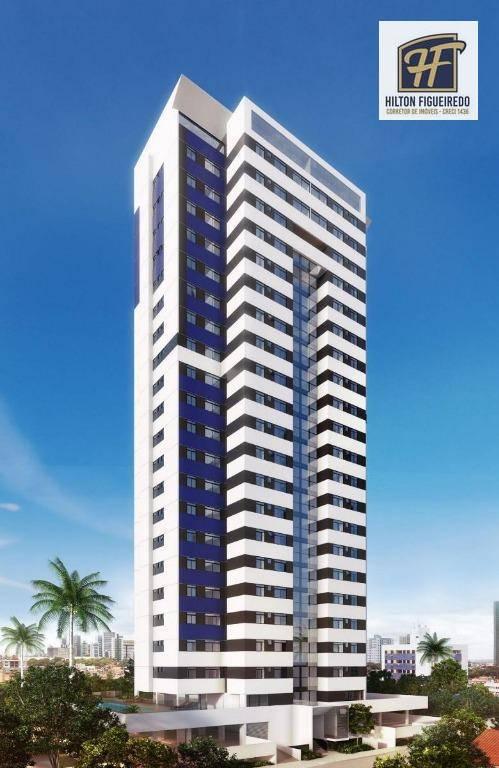 Apartamento com 1 dormitório à venda, 36 m² por R$ 231.606 - Miramar - João Pessoa/PB