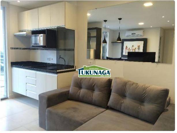 Studio com 1 dormitório para alugar, 36 m² por - Vila Augusta - Guarulhos/SP