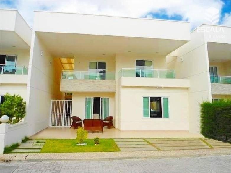 Casa duplex com 4 quartos à venda, 220 m², condomínio fechado ? Luciano Cavalcante - Fortaleza/CE