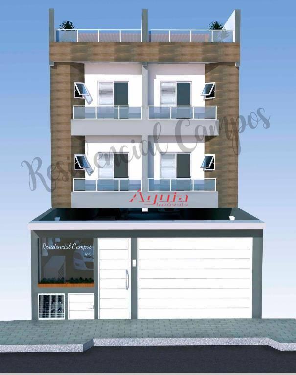 Cobertura com 2 dormitórios à venda, 100 m² por R$ 335.000 - Vila Valparaíso - Santo André/SP