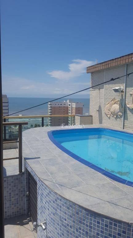 Cobertura com 3 dormitórios à venda, 184 m² por R$ 920.000 - Centro - Mongaguá/SP
