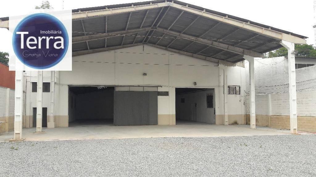 Galpão comercial para locação, Jardim do Rio Cotia, Granja Viana.
