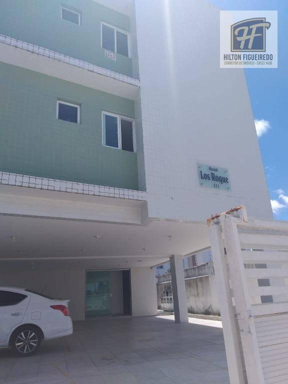 Apartamento com 2 dormitórios para alugar, 60 m² por R$ 700/ano - Cristo Redentor - João Pessoa/PB