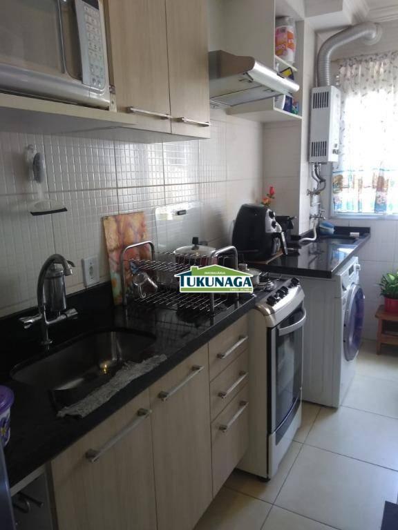 Apartamento com 2 dormitórios para alugar, 45 m² - Vila Augusta/Ponte Grande - Guarulhos/SP