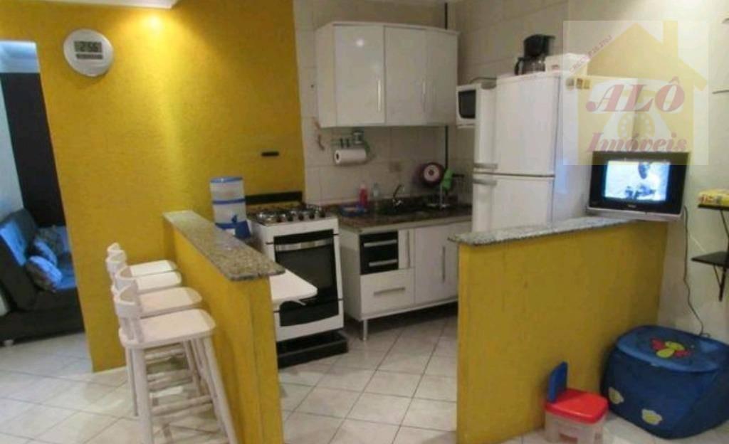Kitnet com 1 dormitório à venda, 30 m² por R$ 115.000 - Tupi - Praia Grande/SP