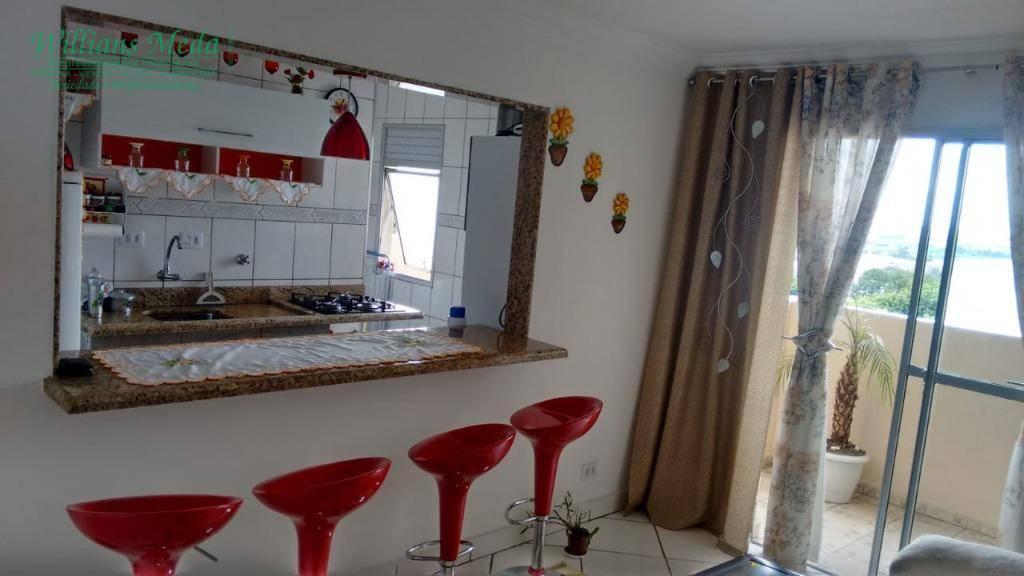 Apartamento com 1 dormitório com closet e sacada gourmet à venda, 62 m² por R$ 235.000 - Vila São Jorge - Guarulhos/SP