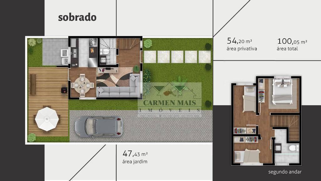 Sobrado residencial à venda, Porto das Laranjeiras, Araucári