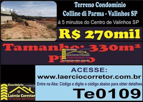 Terreno à venda, 330 m² por R$ 270.000,00 - Lenheiro - Valinhos/SP