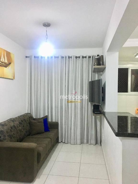 Apartamento com 2 dormitórios à venda, 59 m² por R$ 340.000 - Olímpico - São Caetano do Sul/SP