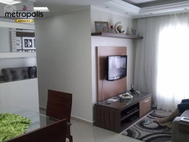 Apartamento com 2 dormitórios à venda, 54 m² por R$ 245.000 - Vila Guarará - Santo André/SP
