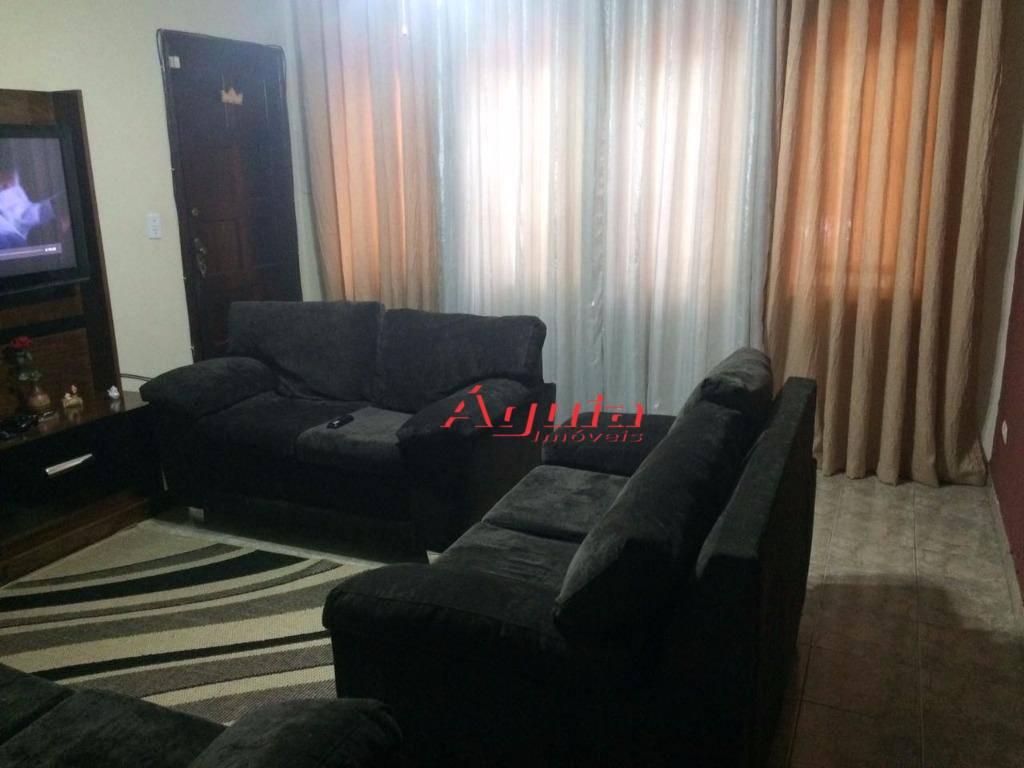 Sobrado residencial à venda, Parque Jaçatuba, Santo André - SO0521.