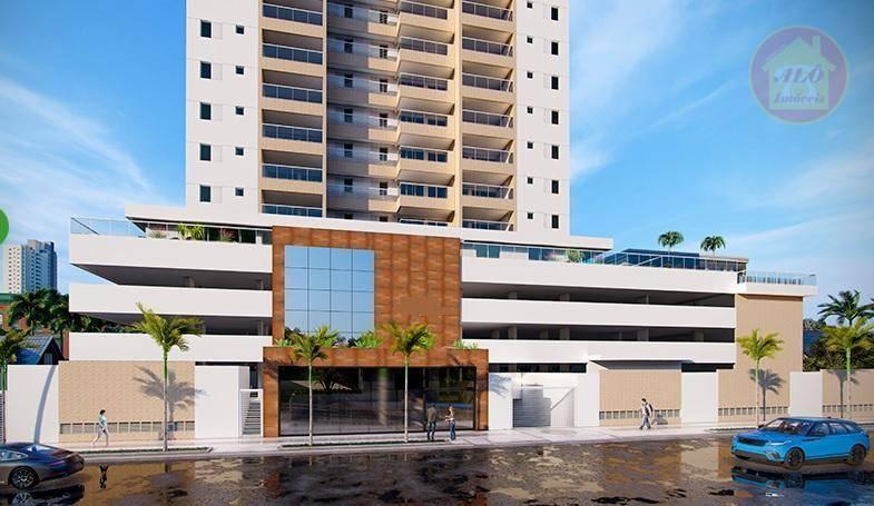 Apartamento com 3 dormitórios à venda, 91 m² por R$ 634.192 - Vila Alzira - Guarujá/SP