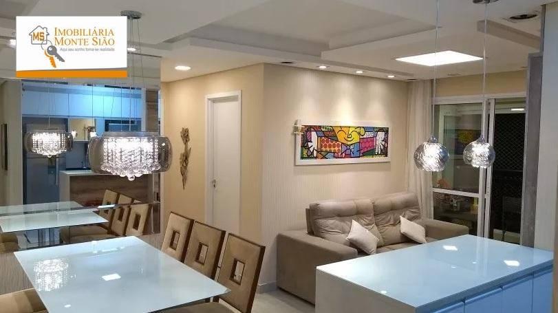 Lindo Apartamento com 2 dormitórios, 68 m² - Jardim Flor da Montanha - Guarulhos/SP