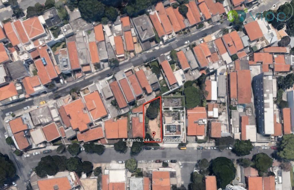 Terreno  residencial à venda, Vila Madalena, São Paulo.