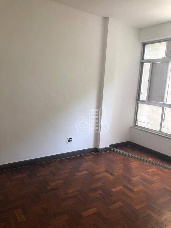 Apartamento com 2 dormitórios para alugar, 80 m² por R$ 1.370,00/mês - Icaraí - Niterói/RJ